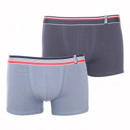 Lot de 2 boxers Athena Easy color en coton stretch gris et anthracite