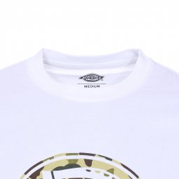 Tee-shirt col rond Dickies en coton blanc à motif camouflage