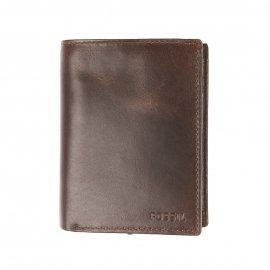 Portefeuille européen Ryan Fossil en cuir brillant noir à 3 volets 9FVfxk5