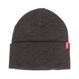 Bonnet à revers Levi's Slouchy Red Tab anthracite