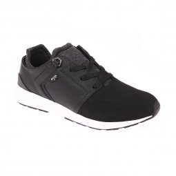 Baskets Black Tab Runner Levi's en cuir noir