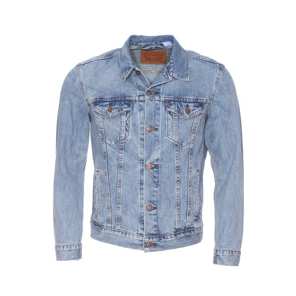 veste en jean trucker levi 39 s bleu clair rue des hommes. Black Bedroom Furniture Sets. Home Design Ideas