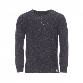 Pull col tunisien Scotch & Soda noir chiné
