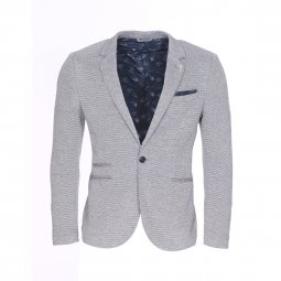 Blazer Selected à motifs chevrons gris chiné