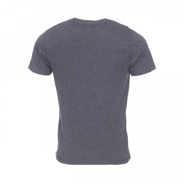 Tee-shirt col rond Selected gris anthracite moucheté