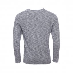 Tee-shirt manches longues Selected en coton gris chiné