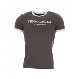 Tee-shirt Teddy Smith Ticlass 3 en coton anthracite chiné floqué
