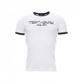 Tee-shirt Ticlass 3 Teddy Smith blanc et bleu navy