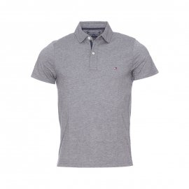 Polo slim fit Oxford Tommy Hilfiger en coton gris anthracite chiné