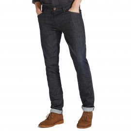 Jean slim tapered Larston Wrangler smooth X bleu denim