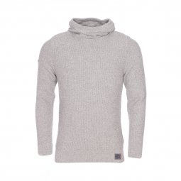 Pull à capuche Super SD Waffle Hoodie Superdry à grosses mailles gris clair