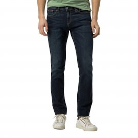 Jean slim Scanton Hilfiger Denim en coton stretch bleu foncé