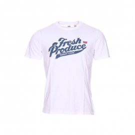 Tee-shirt col rond Levi's Graphic set-in neck blanc floqué Fresh Produce