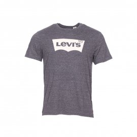 Tee-shirt col rond Levi's Housemark Graphic noir chiné