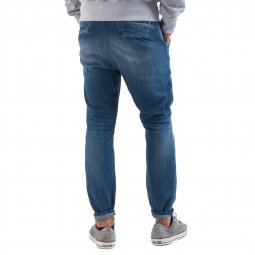 Jean loose fit Meltin'pot Ludwig en chambray bleu délavé