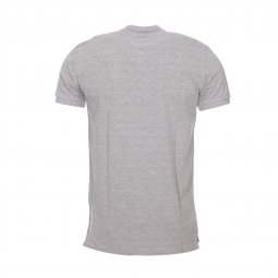 Polo Zane Minimum en maille piquée gris chiné, coupe longue