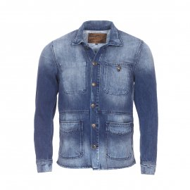 Veste en jean Petrol Industries Medium steel bleu