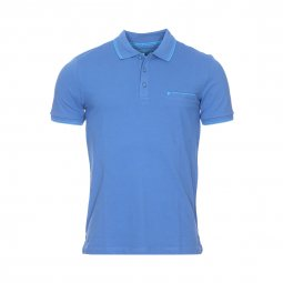 Polo Futureflex Pierre Cardin en coton stretch bleu