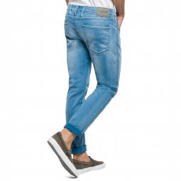 Jean slim Replay Hyperflex en coton strech bleu clair