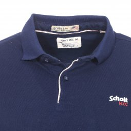 Polo Ps James Schott NYC en maille piquée bleu marine