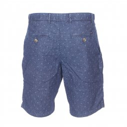 Short Brooklyn Tommy Hilfiger en chambray bleu foncé à broderies
