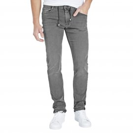 Jean ajusté Rocky Teddy Smith en coton mélangé stretch gris clair patiné