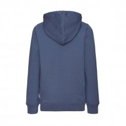 Sweat à capuche Name it en molleton bleu indigo floqué