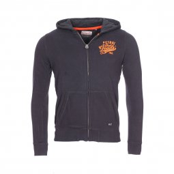 Sweat zippé à capuche Petrol Industries Junior en coton mélangé noir