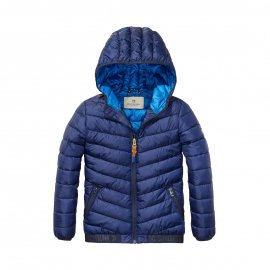 Doudoune à capuche Scotch & Soda Junior bleu marine