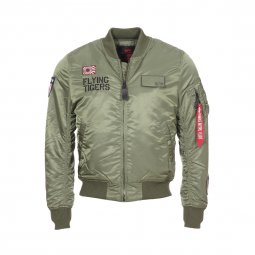 Bombers Alpha Industries MA-1 VF Flying Tigers vert olive