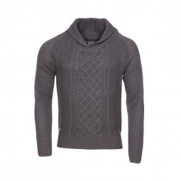 Pull col châle Biaggio gris anthracite
