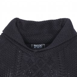 Pull col châle Biaggio noir