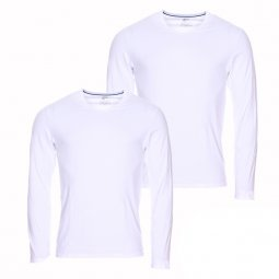 Lot de 2 tee-shirts manches longues Dim X-temp en coton stretch blanc