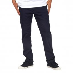 Pantalon droit Element Howland Classic en coton stretch bleu marine