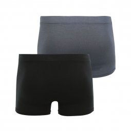 Lot de 2 boxers Duo soft Eminence en modal stretch noir et gris