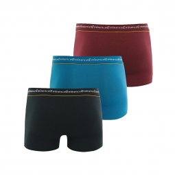 Lot de 3 boxers Eminence Business en coton stretch noir, bleu et bordeaux