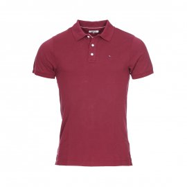 Polo Hilfiger Denim en maille piquée bordeaux