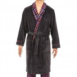 robe de chambre homme - peignoir velour - robe de chambre homme