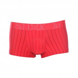 Boxer For Him Hom en microfibre rouge à rayures semi-transparentes