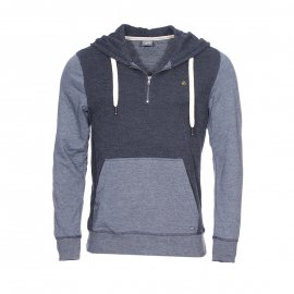Sweat à capuche Jack & Jones bleu chiné bicolore