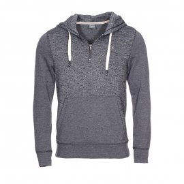 Sweat à capuche Jack & Jones gris foncé chiné bicolore
