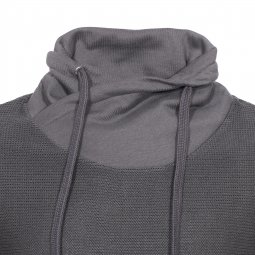 Pull col boule effet sweat Jack & Jones en coton gris