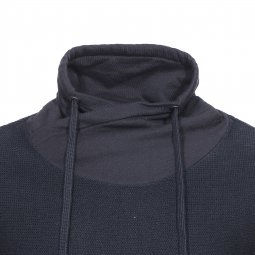 Pull col boule effet sweat Jack & Jones en coton noir