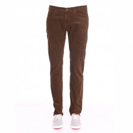 Pantalon droit Lee en velours marron