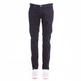 Pantalon droit Lee en velours bleu marine