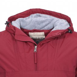 Veste imperméable Napapijri Rainforest Pocket bordeaux à doublure polaire grise