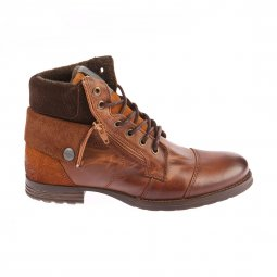 Chaussures montantes No Excess en cuir marron