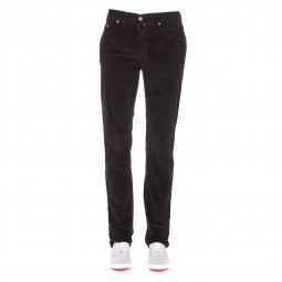 Pantalon droit Pierre Cardin en velours marron