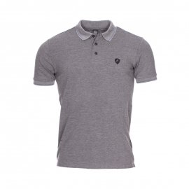 Polo Replay en piqué de coton gris