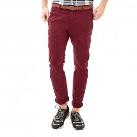 Pantalon chino S. Oliver en coton stretch bordeaux